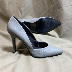 Aldo Women's Gray Animal Texture Heels 👠